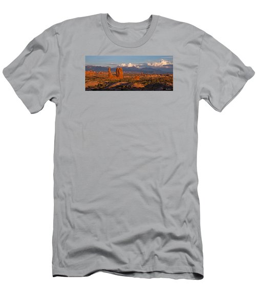 Balanced Rock And Summer Clouds At Sunset Men's T-Shirt (Athletic Fit)