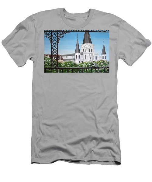 Balcony View Of St Louis Cathedral Men's T-Shirt (Athletic Fit)