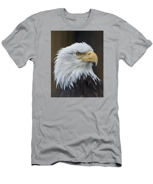 Bald Eagle Portrait Men's T-Shirt (Slim Fit) by Gary Lengyel