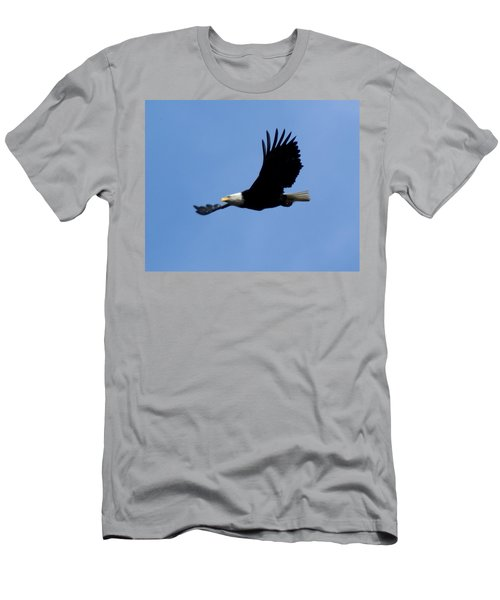Bald Eagle Soaring High Men's T-Shirt (Athletic Fit)