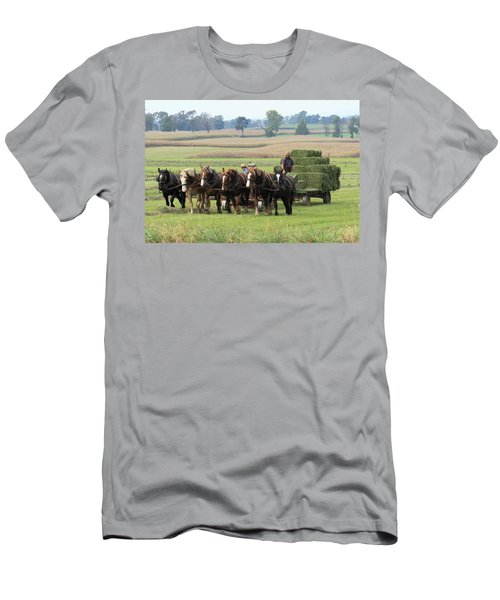 Baling The Hay Men's T-Shirt (Athletic Fit)