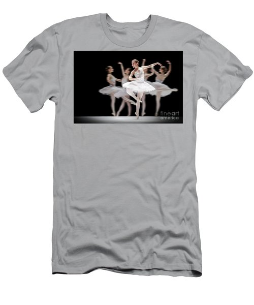 Men's T-Shirt (Athletic Fit) featuring the photograph Ballet Dancer Dance Photography Long Exposure by Dimitar Hristov