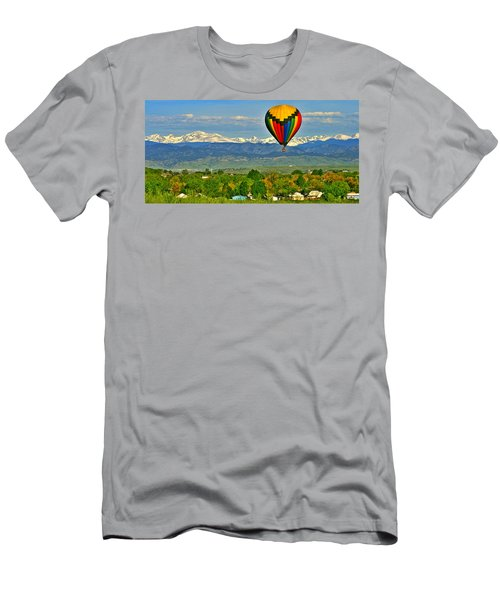 Ballooning Over The Rockies Men's T-Shirt (Athletic Fit)