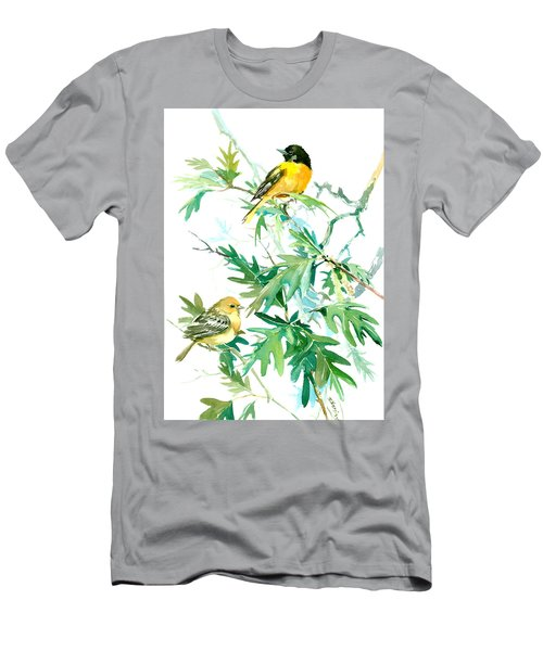 Baltimore Orioles And Oak Tree Men's T-Shirt (Slim Fit) by Suren Nersisyan