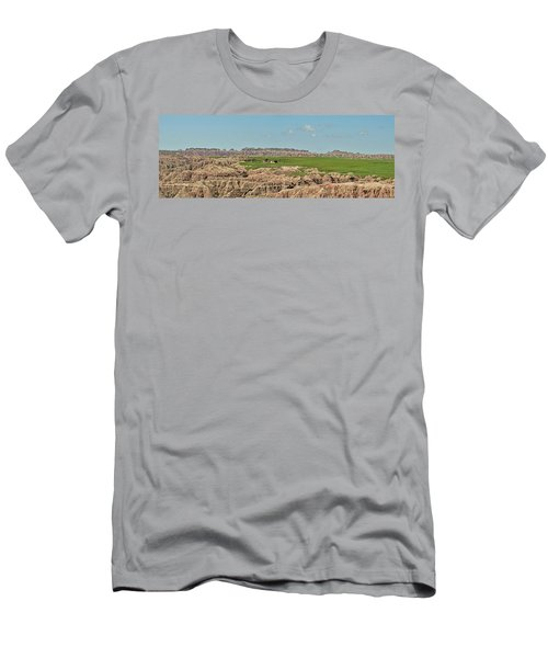 Badlands Panorama Men's T-Shirt (Slim Fit) by Nancy Landry