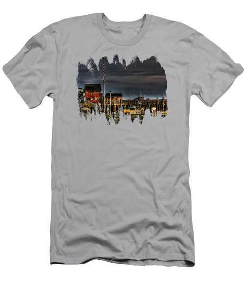 Men's T-Shirt (Slim Fit) featuring the photograph Bandon Boat Basin At Dawn by Thom Zehrfeld