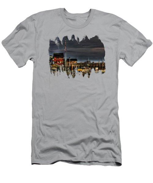 Bandon Boat Basin At Dawn Men's T-Shirt (Athletic Fit)