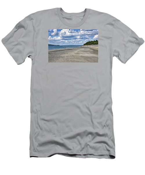 Bar Harbor - Land Bridge To Bar Island - Maine Men's T-Shirt (Slim Fit) by Brendan Reals