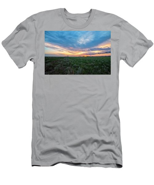 Men's T-Shirt (Athletic Fit) featuring the photograph Barb Wire by Russell Pugh