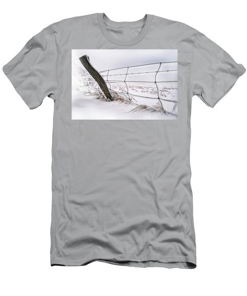 Barbed Wire And Hoar Frost Men's T-Shirt (Slim Fit) by Dan Jurak