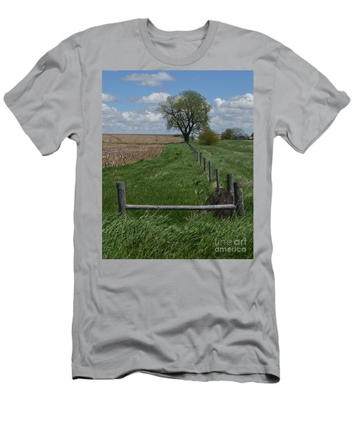 Barbed Wire Fence Line Men's T-Shirt (Athletic Fit)