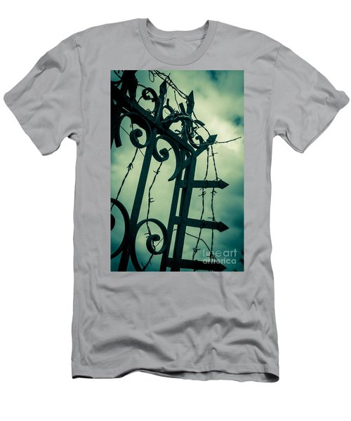 Barbed Wire Gate Men's T-Shirt (Athletic Fit)