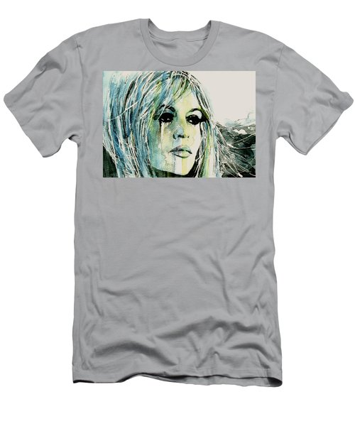 Men's T-Shirt (Slim Fit) featuring the painting Bardot by Paul Lovering