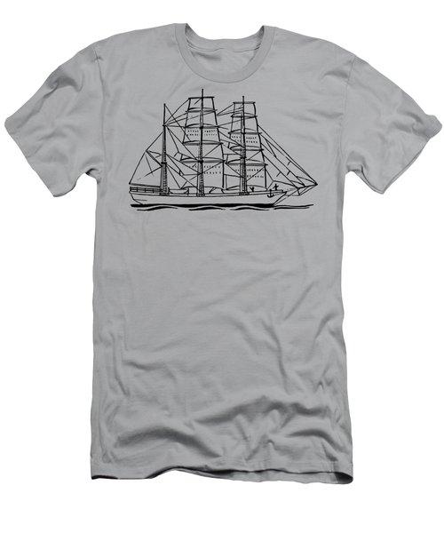 Bark Ship Men's T-Shirt (Athletic Fit)