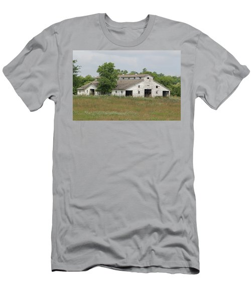 Men's T-Shirt (Athletic Fit) featuring the photograph Barn In The Field 948 by Ericamaxine Price