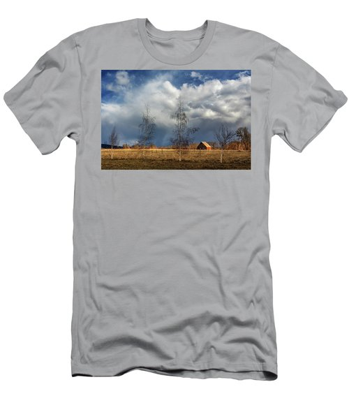 Men's T-Shirt (Slim Fit) featuring the photograph Barn Storm by James Eddy