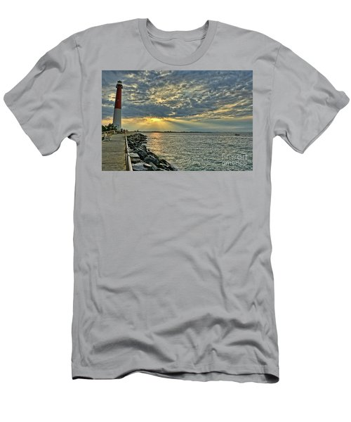 Barneget Lighthouse  New Jersey Men's T-Shirt (Athletic Fit)