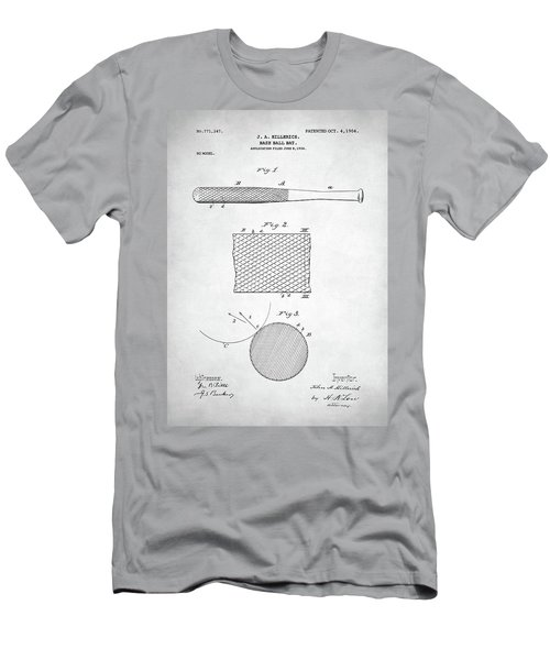 Baseball Bat Patent Men's T-Shirt (Athletic Fit)