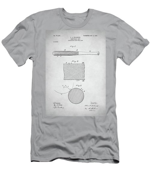 Baseball Bat Patent Men's T-Shirt (Slim Fit) by Taylan Apukovska