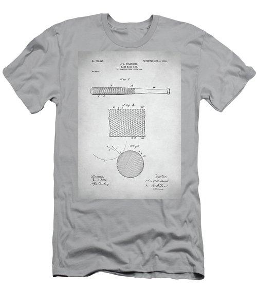 Baseball Bat Patent Men's T-Shirt (Athletic Fit)