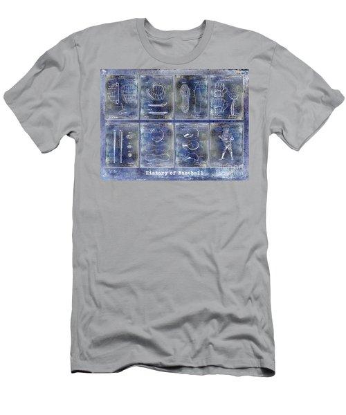 Baseball Patent History Blue Men's T-Shirt (Athletic Fit)