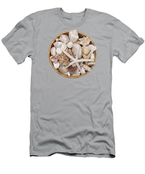 Basket Of Shells Men's T-Shirt (Athletic Fit)