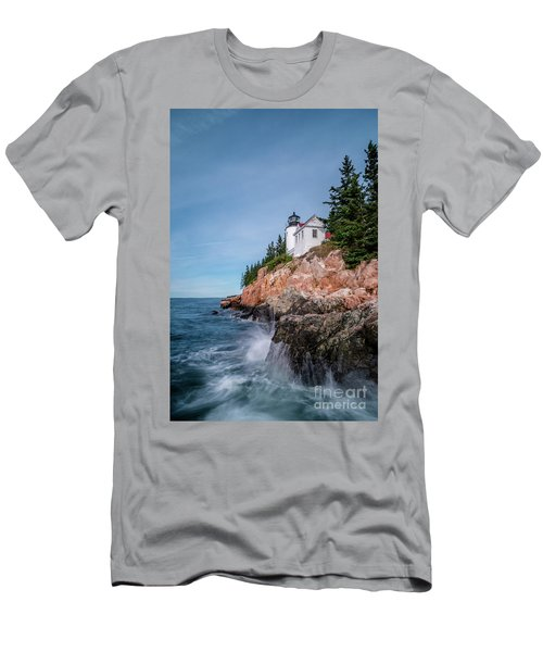 Bass Harbor Head Lighthouse Men's T-Shirt (Athletic Fit)