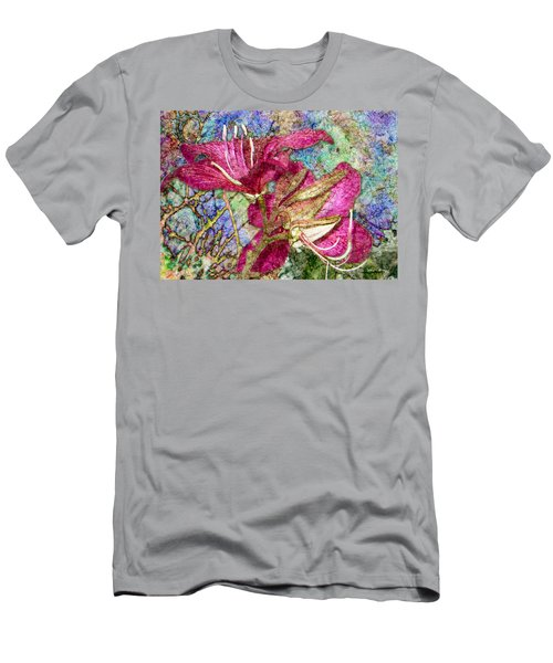 Batik Lilies Men's T-Shirt (Athletic Fit)
