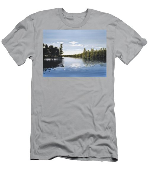 Bay On Lake Muskoka Men's T-Shirt (Slim Fit) by Kenneth M  Kirsch