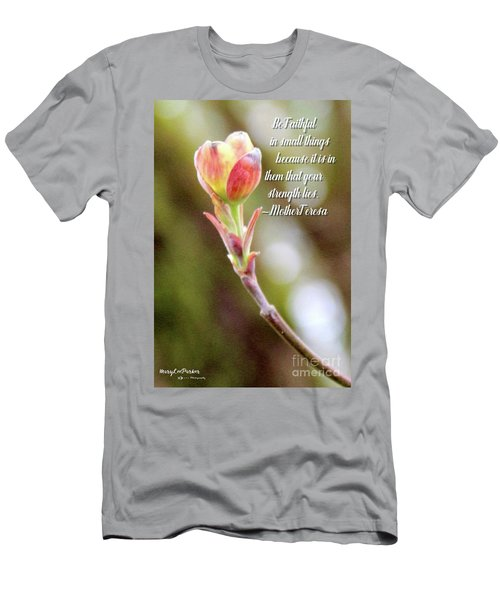 Be Faithful By Mother Teresa Men's T-Shirt (Athletic Fit)