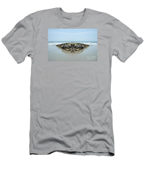 Beach Barrier Men's T-Shirt (Athletic Fit)
