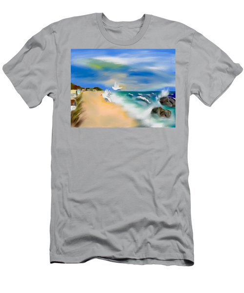 Beach Energy Men's T-Shirt (Slim Fit) by Frank Bright