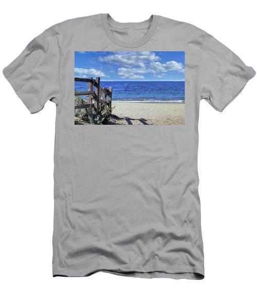 Beach Fence Men's T-Shirt (Athletic Fit)
