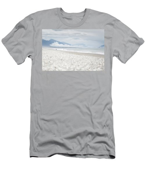 Beach For Two Men's T-Shirt (Slim Fit) by Alex Conu