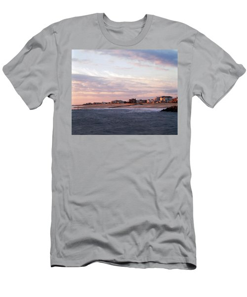 Beach Front Homes Virginia Beach Va Men's T-Shirt (Athletic Fit)