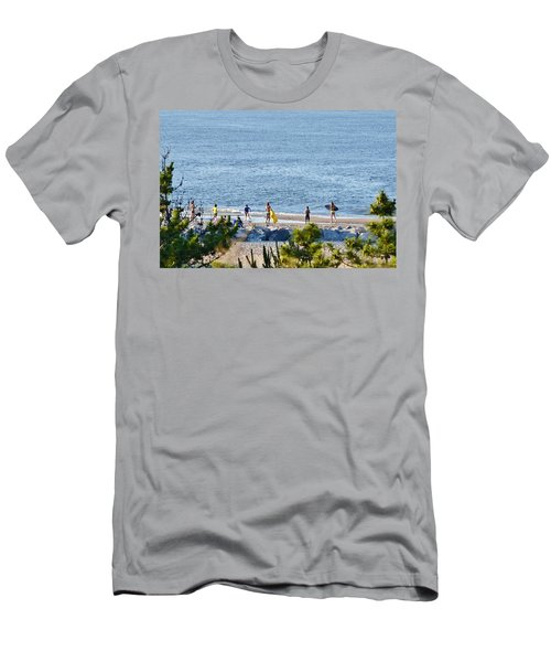 Beach Fun At Cape Henlopen Men's T-Shirt (Athletic Fit)