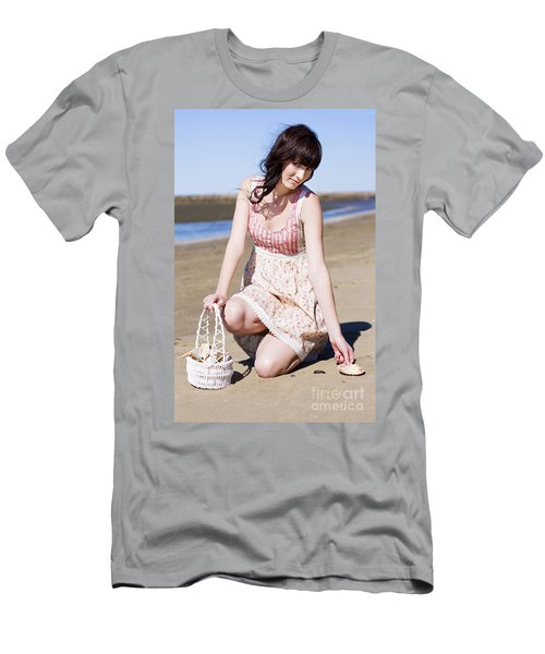 Beach Holiday Woman Men's T-Shirt (Athletic Fit)
