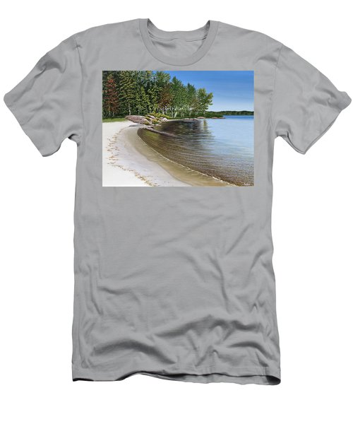 Beach In Muskoka Men's T-Shirt (Athletic Fit)