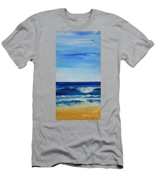 Beach Ocean Sky Men's T-Shirt (Athletic Fit)