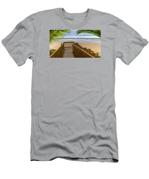 Men's T-Shirt (Slim Fit) featuring the photograph Beach Paradise 001 by Kevin Chippindall