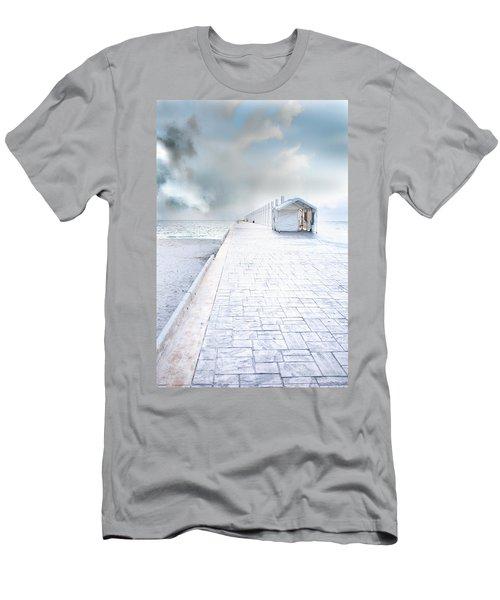 Beach Pier Men's T-Shirt (Athletic Fit)