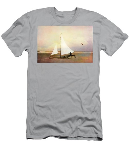 Beach Sailing Men's T-Shirt (Athletic Fit)