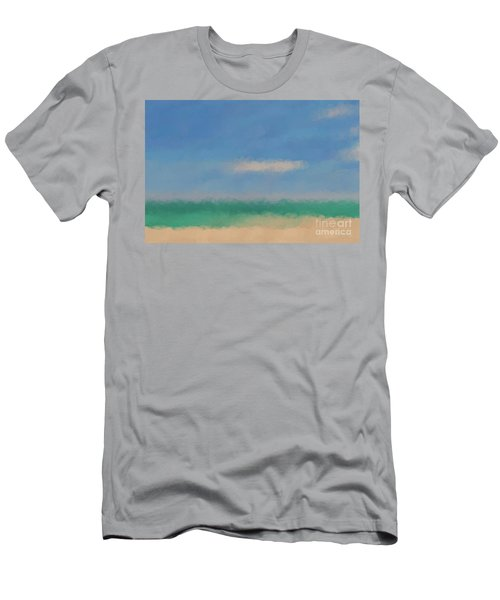 Beach Scene 6. Modern Decor Collection Men's T-Shirt (Slim Fit) by Mark Lawrence