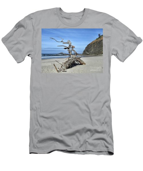 Men's T-Shirt (Athletic Fit) featuring the photograph Beach Sculpture by Peggy Hughes