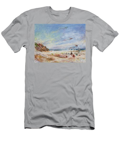 Beachy Day - Impressionist Painting - Original Contemporary Men's T-Shirt (Athletic Fit)