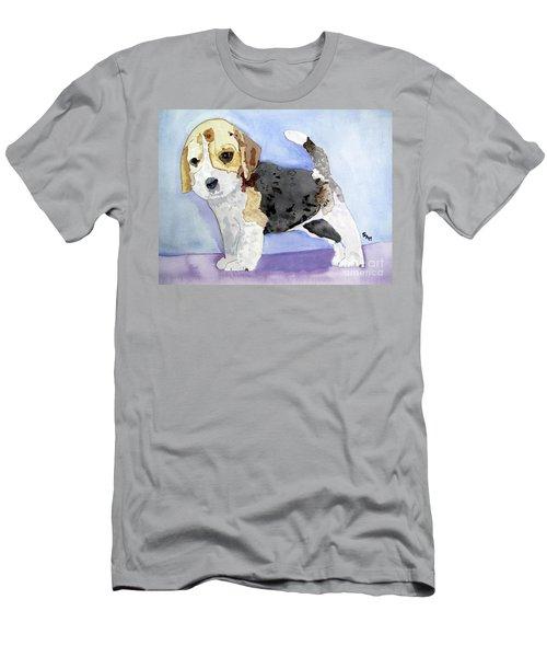 Beagle Pup Men's T-Shirt (Slim Fit) by Sandy McIntire