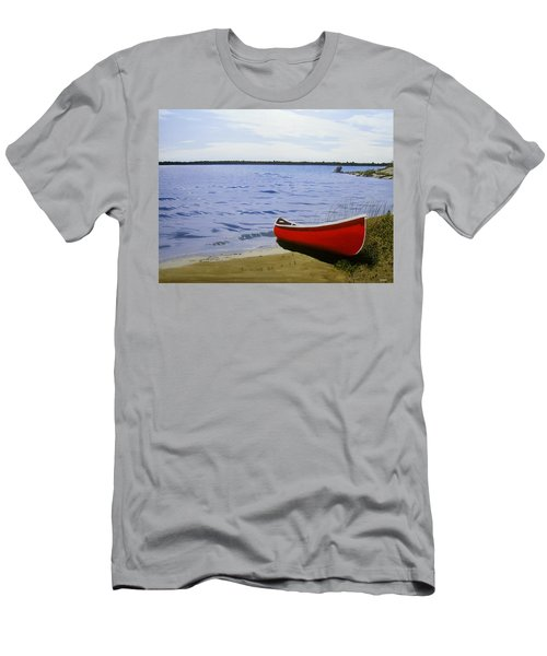 Beaultiful Red Canoe Men's T-Shirt (Athletic Fit)