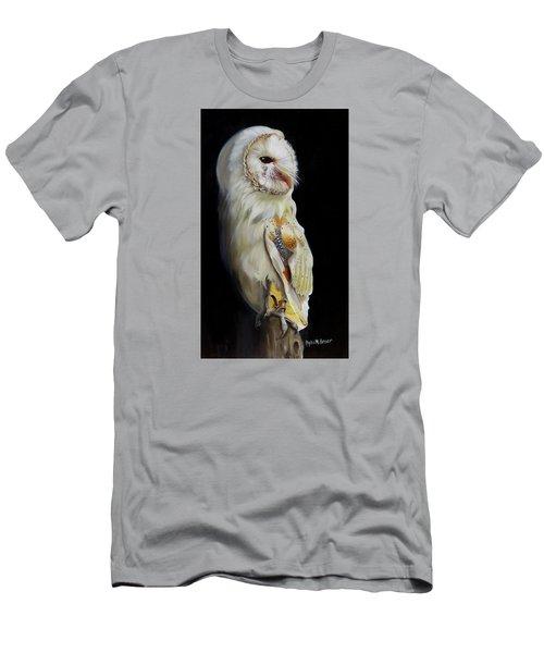 Beautiful Barn Owl Men's T-Shirt (Slim Fit) by Phyllis Beiser