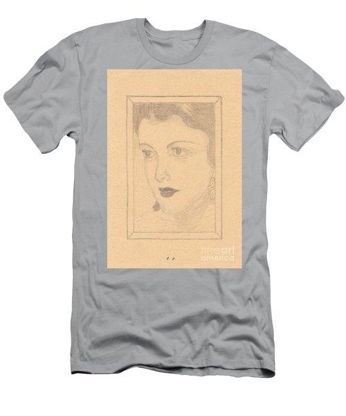 Beautiful Lady Face Men's T-Shirt (Athletic Fit)