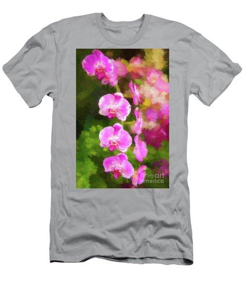 Beautiful Orchids Men's T-Shirt (Athletic Fit)